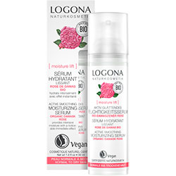 Logona Organic Active Smooting Moisturizing Serum (Rose & Kalpariane, Dry Skin) 30ml