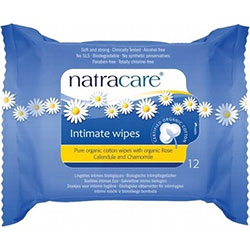 Natracare Organic Intimate Wipes 12 Pcs