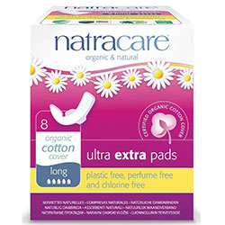 Natracare Organic Pads (Ultra Extra, Long) 8 Pcs