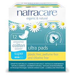 Natracare Organic Pads (Ultra, Super) 12 Pcs