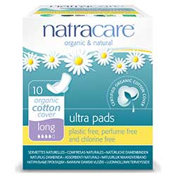 Natracare Organic Pads (Ultra, Long) 10 Pcs