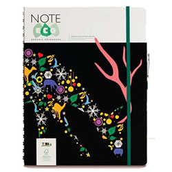 NOTE ECO Ecological Spiral Notebook (Squared, 19.8x27.5, Black Cover) 144 Sheets
