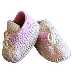 Organic Bonny Baby Organic Handmade Baby Lace Up Shoe (0-6 Months, Pink)