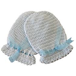 Organic Bonny Baby Organic Handmade Gloves (Blue)