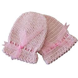 Organic Bonny Baby Organic Handmade Gloves (Pink)