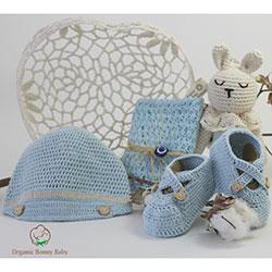 Organic Bonny Baby Organic Handmade Gift Pack (Blue)