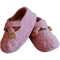 Organic Bonny Baby Organic Handmade Baby Shoe (0-6 Months, Pink)