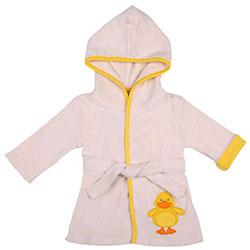 OrganicKid Bathrobe (Ecru, Ducky, 3 Age)