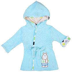 OrganicKid Bathrobe (Blue, Hippo, 3 Age)