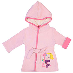 OrganicKid Bathrobe (Pink, Mermaid, 4 Age)