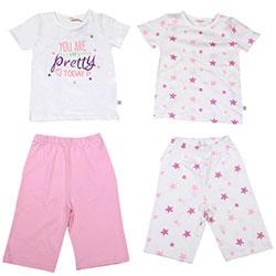 OrganicKid Organic 2 Pack Pajamas (Pink Star, 2 Age)
