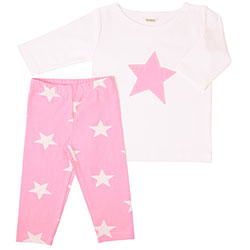 OrganicKid Organic Tight Pack (Pink Star, 6 Age)