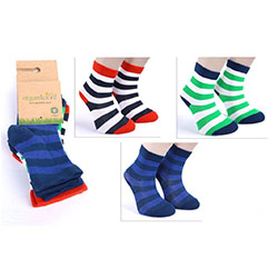 OrganicKid Organic Sock (3 Pcs, Fun Boy, 1-2 Years)