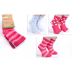 OrganicKid Organic Sock (3 Pcs, Fun Girl, 2-4 Years)