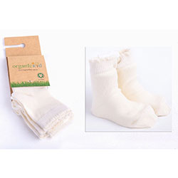 OrganicKid Organic Sock (3 Pcs, Neutral - Girl, 4-6 Years)