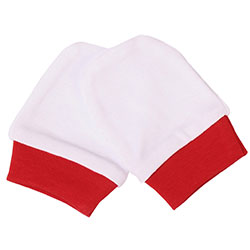 OrganicKid Organic Gloves (Red & White, 3-6 Months)