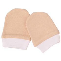 OrganicKid Organic Gloves (Dark Beige & Ecru, 3-6 Months)