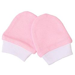 OrganicKid Organic Gloves (Pembe & White 3-6 Months)