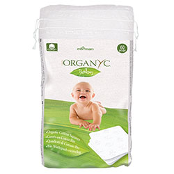 ORGANYC Baby Cotton Squares 60 Pcs