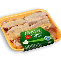 Orvital Organic Chicken Wings (Frozen) 450g