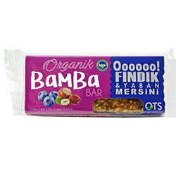 OTS Organic Bamba Fruit Bar (Hazelnut & Blueberry) 30g