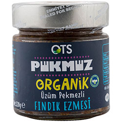 OTS Organic Hazelnut Paste With Grape Molasses (Pükmüz) 220g