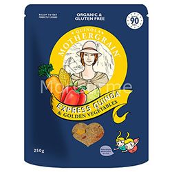 Quinola Mothergrain Organic Cooked Qinoa (Golden Vegetables) 250g