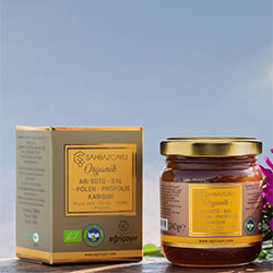 Şahbaz Çaylı Organic Royal Jelly + Honey + Pollen + Propolis Mix 240g