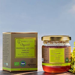 Şahbaz Çaylı Organic Royal Jelly + Honey + Propolis Mix 240g