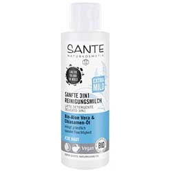 Sante Organic Gentle 3-in-1 Cleansing Milk (Aloe Vera & Chia Seed Oil) 125ml