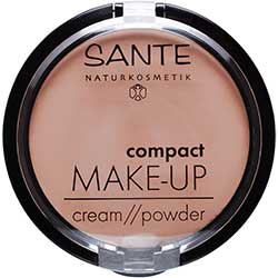 SANTE Organic Cream Foundation Compact Make up (02 Bej, Cream/Powder)