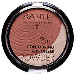 SANTE Organic 2in1 Contouring & Bronzer Powder (01 Light-Medium)