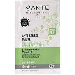 Sante Organic Anti Stress Mask (Almond Oil & Vitamin F) 2x4ml