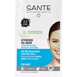 SANTE Organic Afterwork Gel Mask 2x4ml