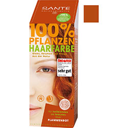 SANTE Organic Herbal Hair Colors Powder (Flame Red) 100g
