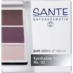 SANTE Organic Eyeshadow Trios (02 Aubergine)