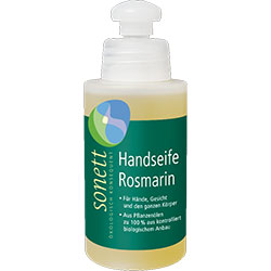 Sonett Organic Liquid Hand Soap (Rosemary, Travel Size) 120ml