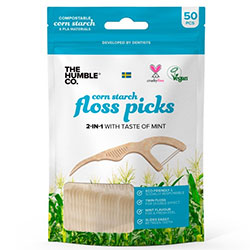 The Humble Natural Floss Picks (50 pack, Mint)