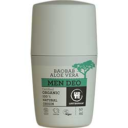Urtekram Organic Cream Deo (Men, Baobab & Aloe Vera) 50ml