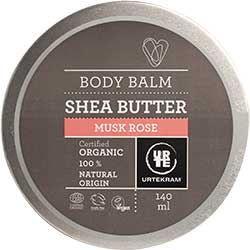 Urtekram Organic Shea Butter Body Balm (Misk Rose) 140ml
