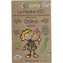 Zerotre Organic Pasta With Zucchini & Spinach (Stelline) 250g