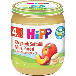 HiPP Organik Şeftalili Muz Püresi Kavanoz Maması 125gr
