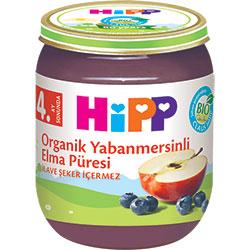 HiPP Organik Yabanmersinli Elma Püresi Kavanoz Maması 125gr