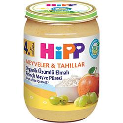HiPP Organik Üzümlü Elmalı Pirinçli Meyve Püresi 190gr
