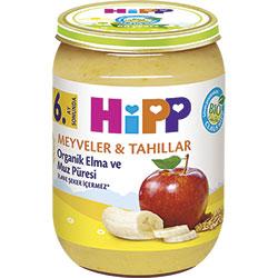 HiPP Organik Elma ve Muz Püresi Kavanoz Maması 190gr