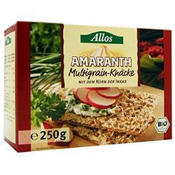 Allos Organik Amarantlı Çok Tahıllı Çıtır Ekmek 250gr