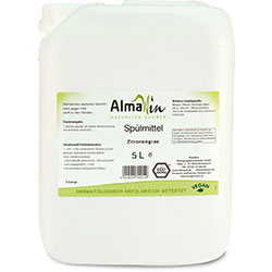 AlmaWin Organic Washing up Liquid  Scent Lemongrass  5L
