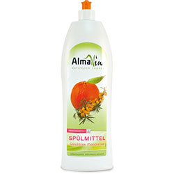 AlmaWin Organic Washing up Liquid  Scent Sallowthorn Mandarin  1L