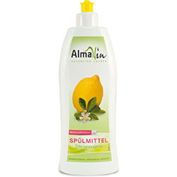 AlmaWin Organic Washing up Liquid  Scent Lemongrass  500ml