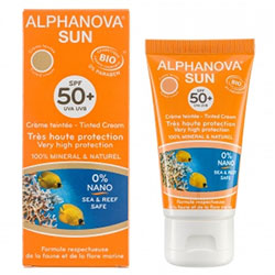 Alphanova Organik Renkli Güneş Koruyucu SPF 50 Faktör 50gr